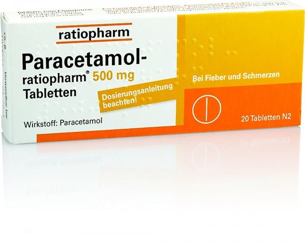 PARACETAMOL RATIOPHARM 500mg TABLETTEN 20St