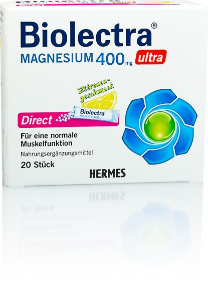 BIOLECTRA MAGNESIUM 400mg ULTRA DIRECT GRANULAT ZITRONENGESCHMACK STICKS 20St