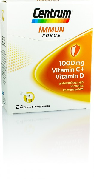 CENTRUM IMMUN FOKUS 1000mg VITAMIN C+VITAMIN D DIREKTGRANULAT 24 STICKS