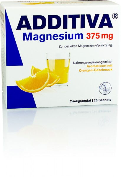 ADDITIVA MAGNESIUM 375mg ORANGE TRINKGRANULAT BEUTEL 20St