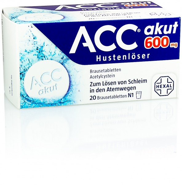 ACC AKUT 600mg BRAUSETABLETTEN 20St