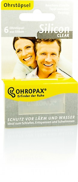OHROPAX SILICON CLEAR 6St